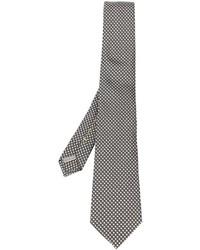 Corbata de Seda Bordada en Gris Oscuro de Canali