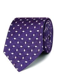 Corbata de seda bordada en violeta de Turnbull & Asser