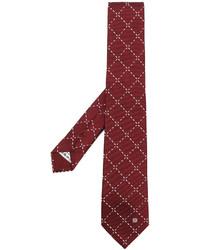 Corbata de seda burdeos de Loewe