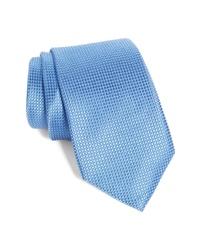 Corbata de seda celeste