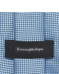 Corbata de seda celeste de Ermenegildo Zegna
