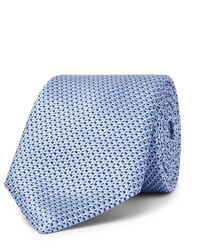Corbata de seda celeste de Hugo Boss