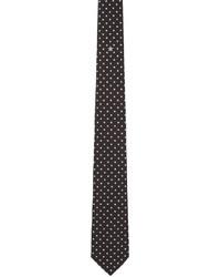 Corbata de seda de estrellas negra de Givenchy