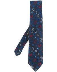 Corbata de seda de paisley azul marino de Etro