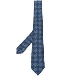 Corbata de seda de pata de gallo azul de Etro