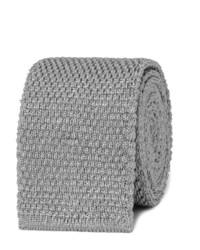 Corbata de seda de punto gris de Tom Ford