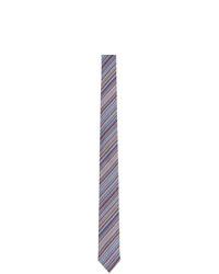 Corbata de seda de rayas horizontales celeste de Paul Smith