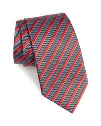 Corbata de seda de rayas horizontales en multicolor
