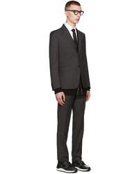 Corbata de seda de rayas horizontales negra de Givenchy