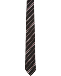 Corbata de seda de rayas horizontales negra de Paul Smith