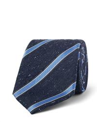 Corbata de seda de rayas verticales azul marino de Canali