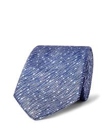 Corbata de seda de rayas verticales azul de Richard James