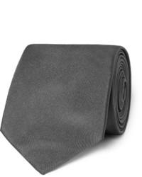 Corbata de seda en gris oscuro de Hugo Boss