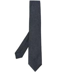 Corbata de seda en gris oscuro de Kiton