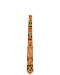 Corbata de seda en rojo y negro de Versace