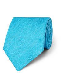 Corbata de seda en turquesa de Charvet