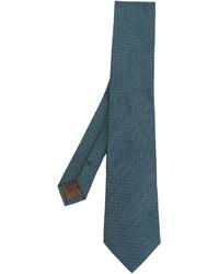 Corbata de seda en verde azulado de Church's
