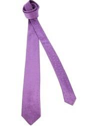 Corbata de seda en violeta
