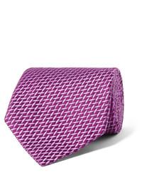 Corbata de seda en violeta de Charvet