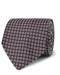 Corbata de seda en violeta de Drakes
