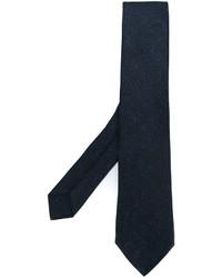 Corbata de seda estampada azul marino de Kiton
