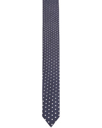 Corbata de seda estampada azul marino de Neil Barrett