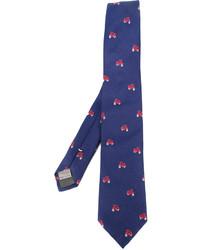 Corbata de seda estampada azul de Canali