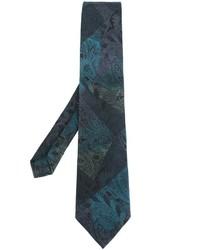 Corbata de seda estampada en verde azulado de Etro