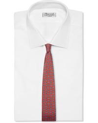 Corbata de seda estampada naranja de Dunhill