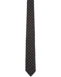 Corbata de seda estampada negra de Kenzo