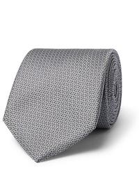 Corbata de seda gris de Canali