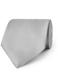 Corbata de seda gris de Ermenegildo Zegna
