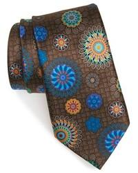 Corbata de seda marrón