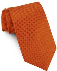 Corbata de seda naranja