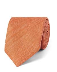 Corbata de seda naranja de Charvet
