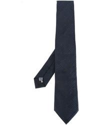 Corbata de seda tejida azul marino de Armani Collezioni