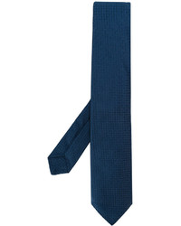 Corbata de seda tejida azul marino de Kiton