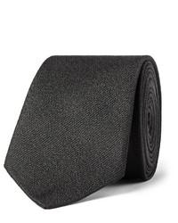 Corbata de seda tejida negra de Saint Laurent