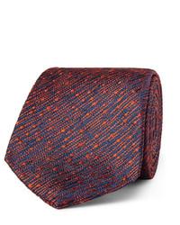 Corbata de seda tejida roja de Richard James