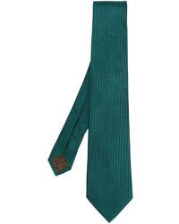 Corbata de seda verde oscuro de Church's