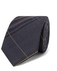 Corbata de tartán azul marino de Berluti