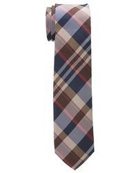Corbata de tartán marrón