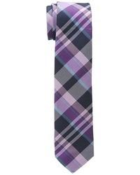 Corbata de tartán morado