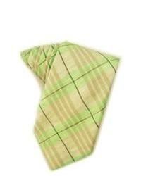 Corbata de tartán verde