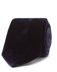 Corbata de terciopelo morado oscuro de Lanvin