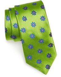 Corbata en amarillo verdoso