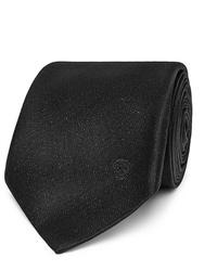 Corbata en gris oscuro de Alexander McQueen
