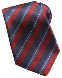Corbata en rojo y azul marino