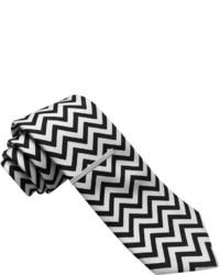 Corbata en zig zag en negro y blanco