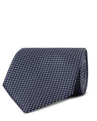 Corbata estampada azul marino de Ermenegildo Zegna
